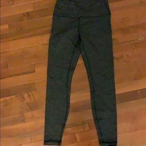Lululemon gray light patterned leggings.